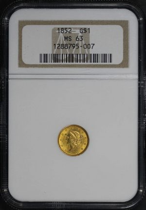 Obverse of this 1852  NGC MS-63