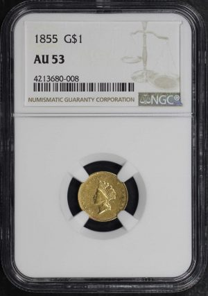 Obverse of this 1855  NGC AU-53