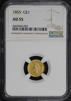 Obverse of this 1855  NGC AU-55