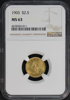 Obverse of this 1903 Liberty Head $2.5 NGC MS-63