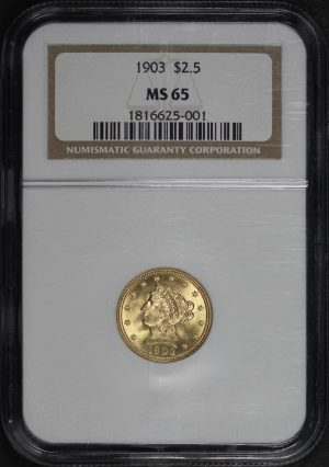 Obverse of this 1903 Liberty Head $2.5 NGC MS-65