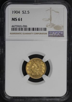 1904 $2.50 Liberty Gold PCGS MS-61 - 181730