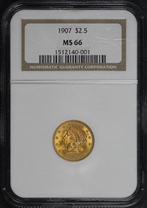 Obverse of this 1907 Liberty Head $2.5 NGC MS-66
