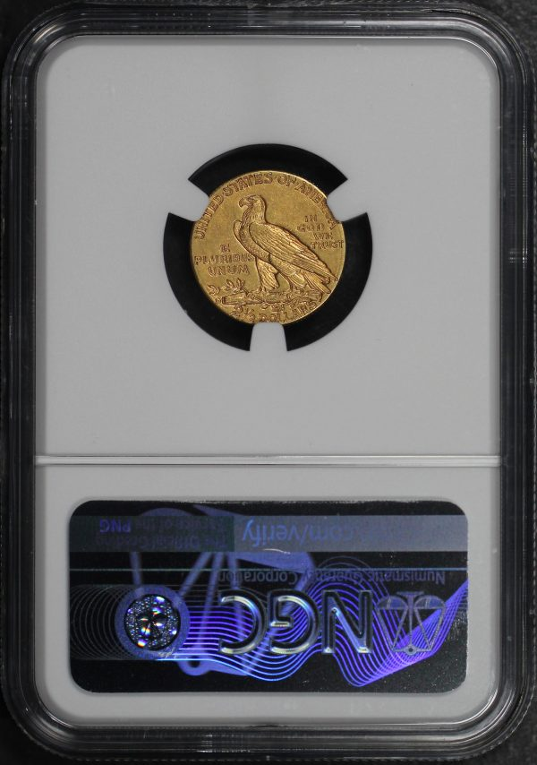 Reverse of this 1914-D Indian $2.5 NGC AU-58