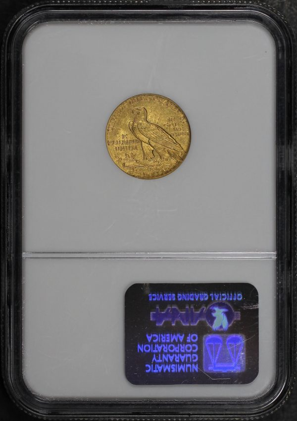 Reverse of this 1915 Indian $2.5 NGC MS-62