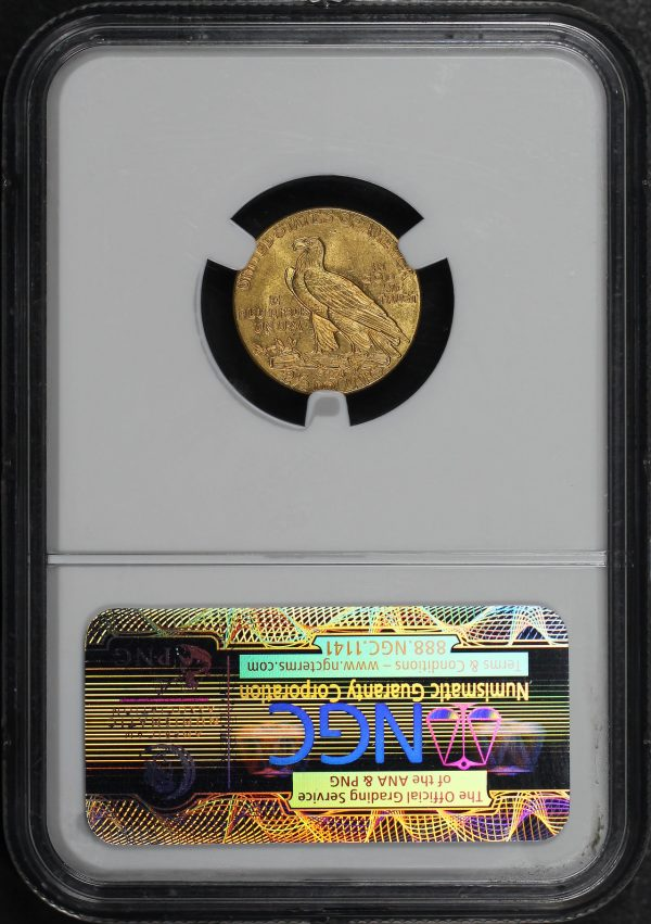 Reverse of this 1926 Indian $2.5 NGC MS-64+