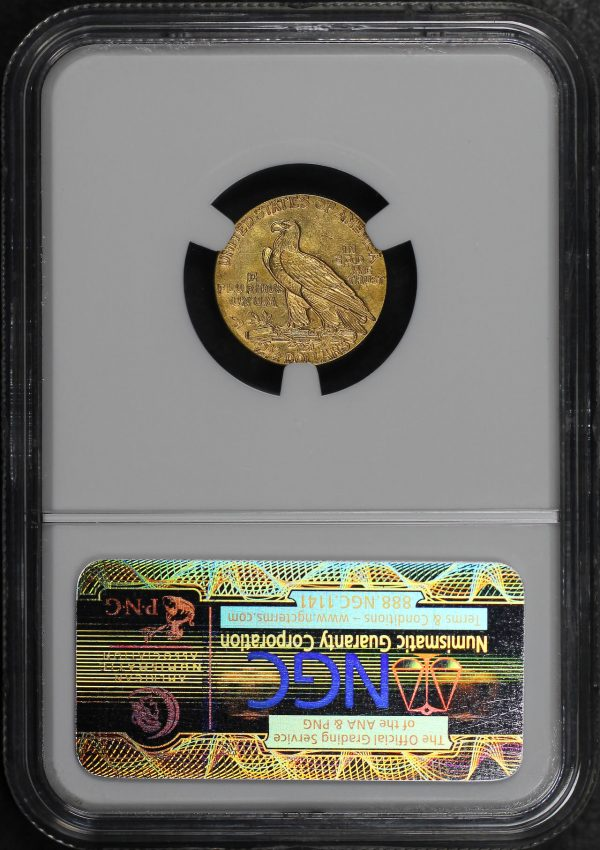 Reverse of this 1928 Indian $2.5 NGC MS-62