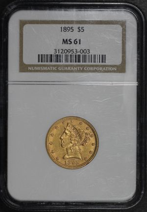 Obverse of this 1895 Liberty Head $5 NGC MS-61