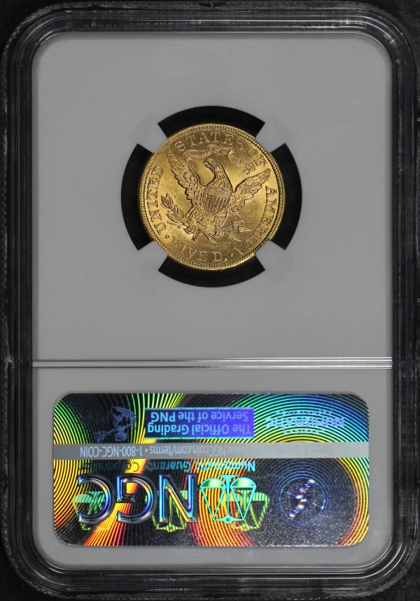 Reverse of this 1899-S Liberty Head $5 NGC MS-63