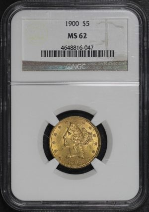 Obverse of this 1900 Liberty Head $5 NGC MS-62