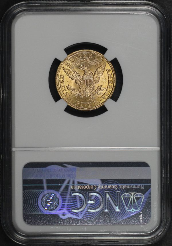 Reverse of this 1900 Liberty Head $5 NGC MS-63