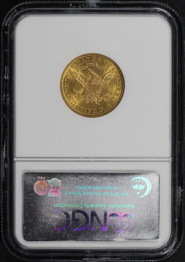 Reverse of this 1907 Liberty Head $5 NGC MS-64 CAC