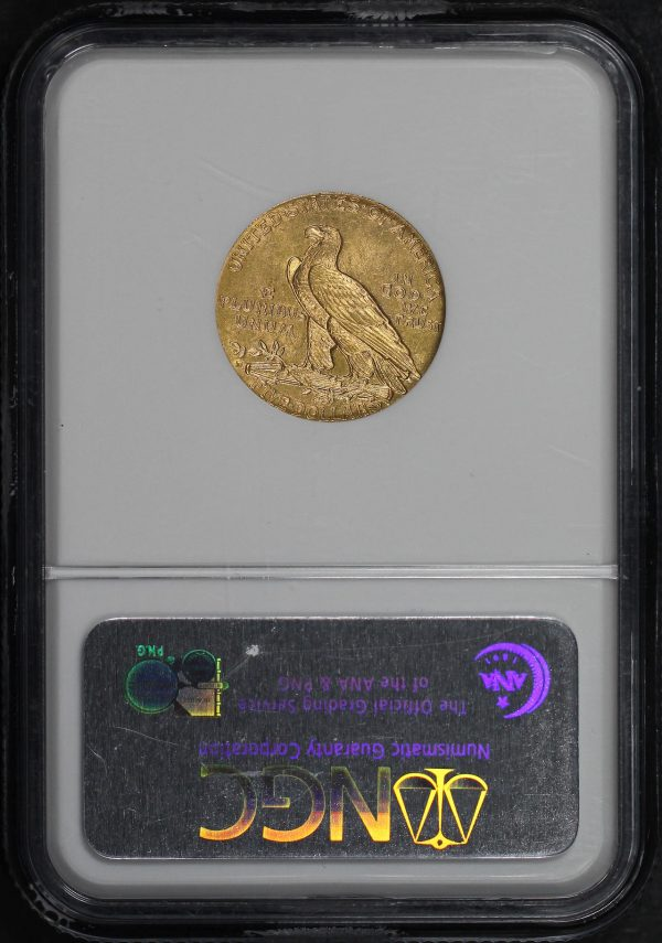 Reverse of this 1909-D Indian $5 NGC MS-63