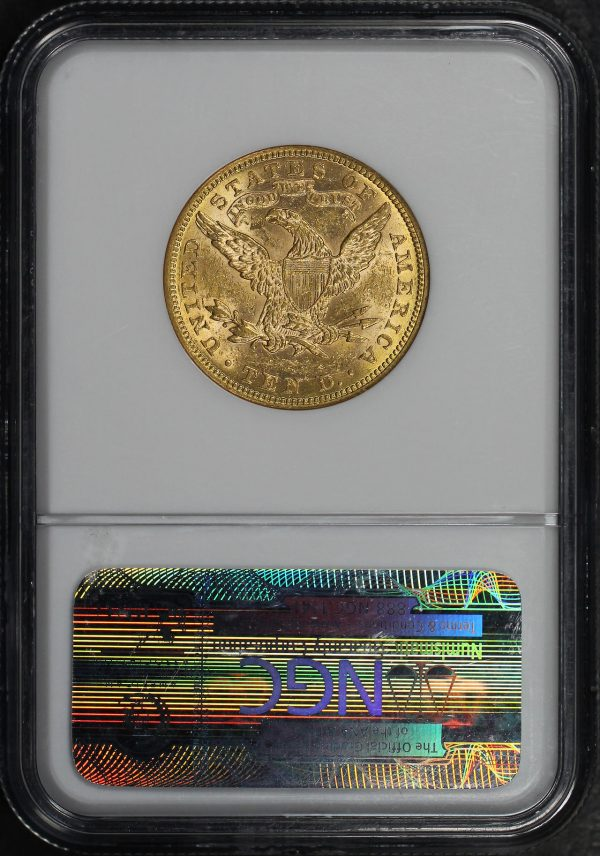 Reverse of this 1881 Liberty Head $10 NGC MS-60
