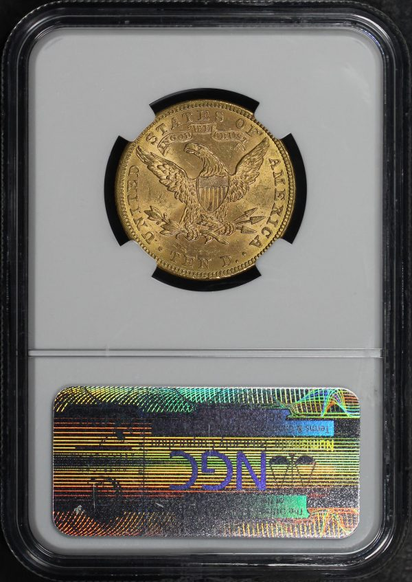 Reverse of this 1882 Liberty Head $10 NGC MS-61