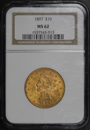 Obverse of this 1897 Liberty Head $10 NGC MS-62