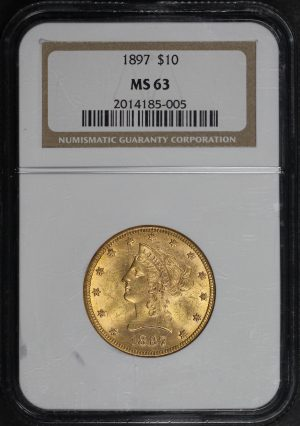 Obverse of this 1897 Liberty Head $10 NGC MS-63