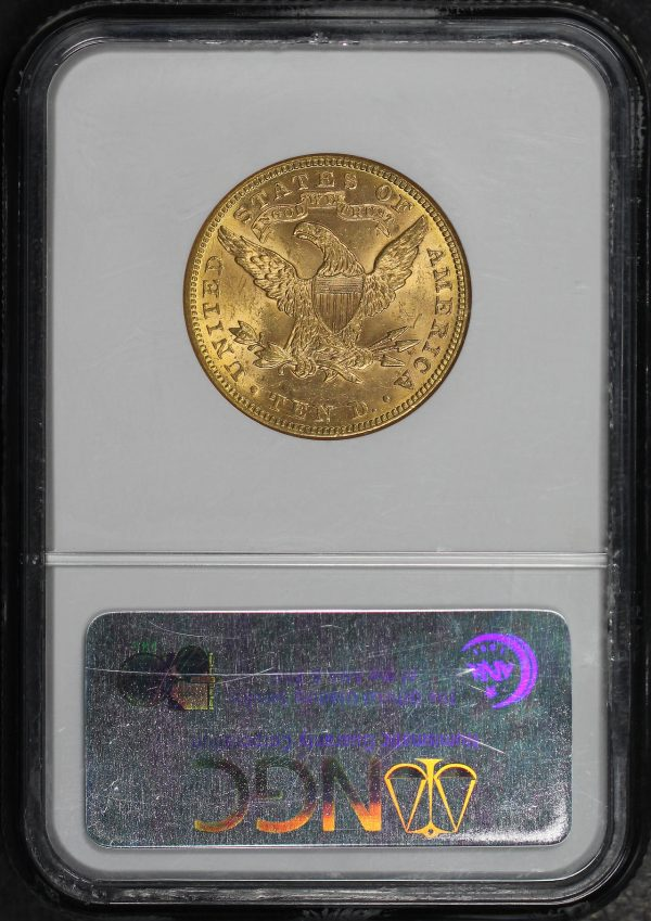 Reverse of this 1897 Liberty Head $10 NGC MS-63