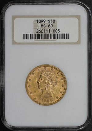 Obverse of this 1899 Liberty Head $10 NGC MS-60