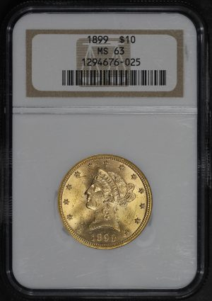 Obverse of this 1899 Liberty Head $10 NGC MS-63