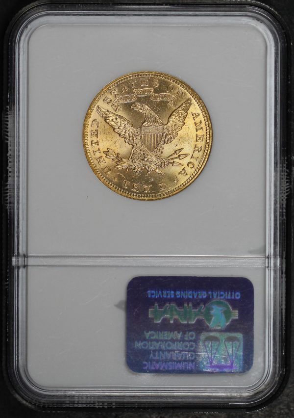 Reverse of this 1899 Liberty Head $10 NGC MS-63