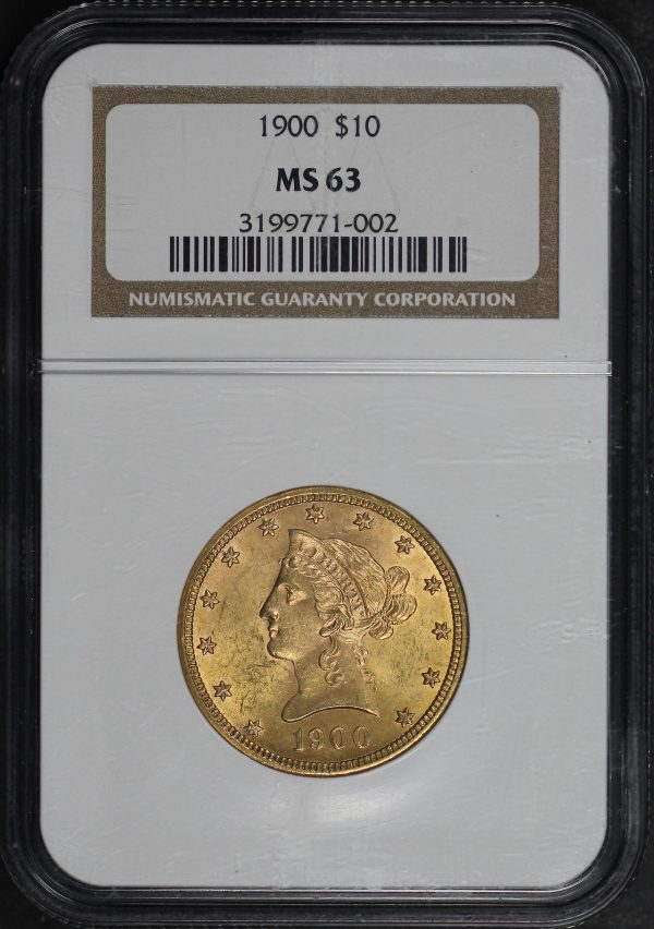 Obverse of this 1900 Liberty Head $10 NGC MS-63