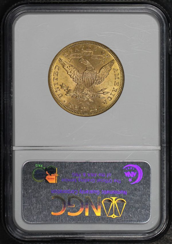 Reverse of this 1900 Liberty Head $10 NGC MS-63