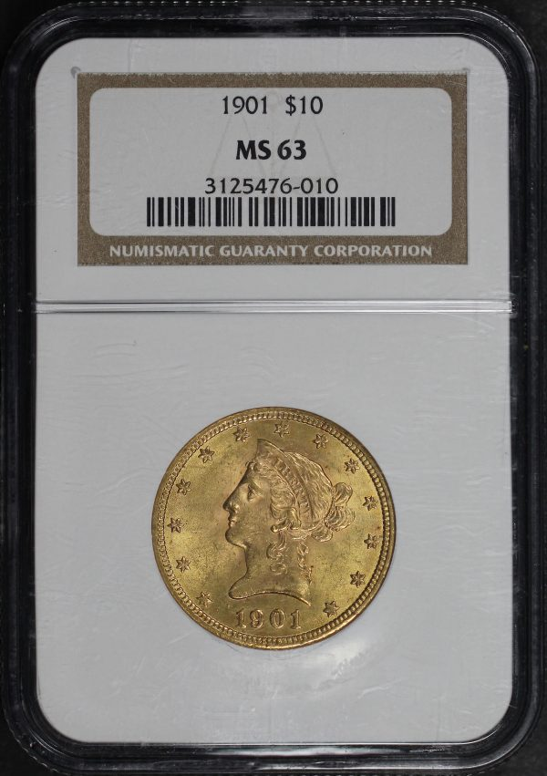 Obverse of this 1901 Liberty Head $10 NGC MS-63