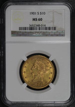 Obverse of this 1901-S Liberty Head $10 NGC MS-60