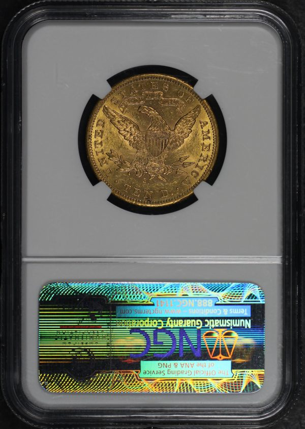 Reverse of this 1901-S Liberty Head $10 NGC MS-60