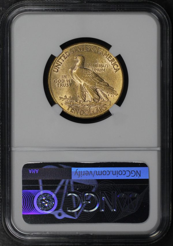 Reverse of this 1909-D Indian $10 Motto NGC AU-58