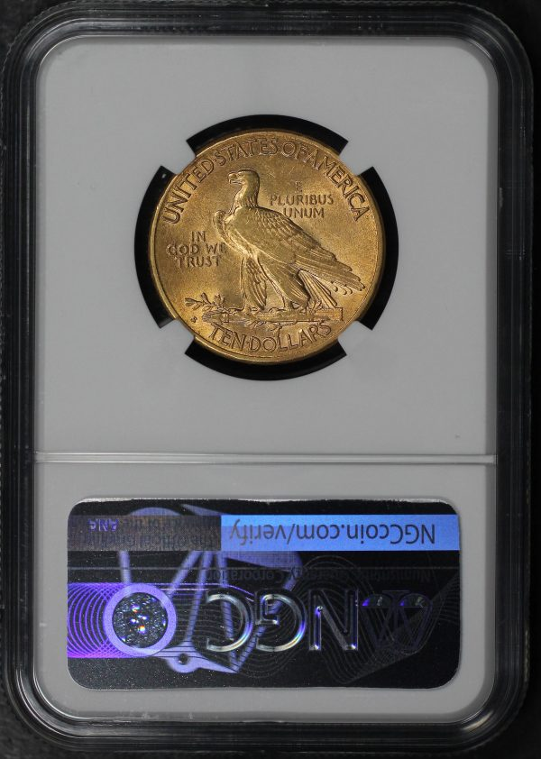 Reverse of this 1909-S Indian $10 Motto NGC AU-58