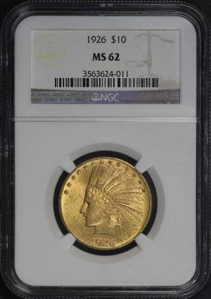Obverse of this 1926 Indian $10 Motto NGC MS-62