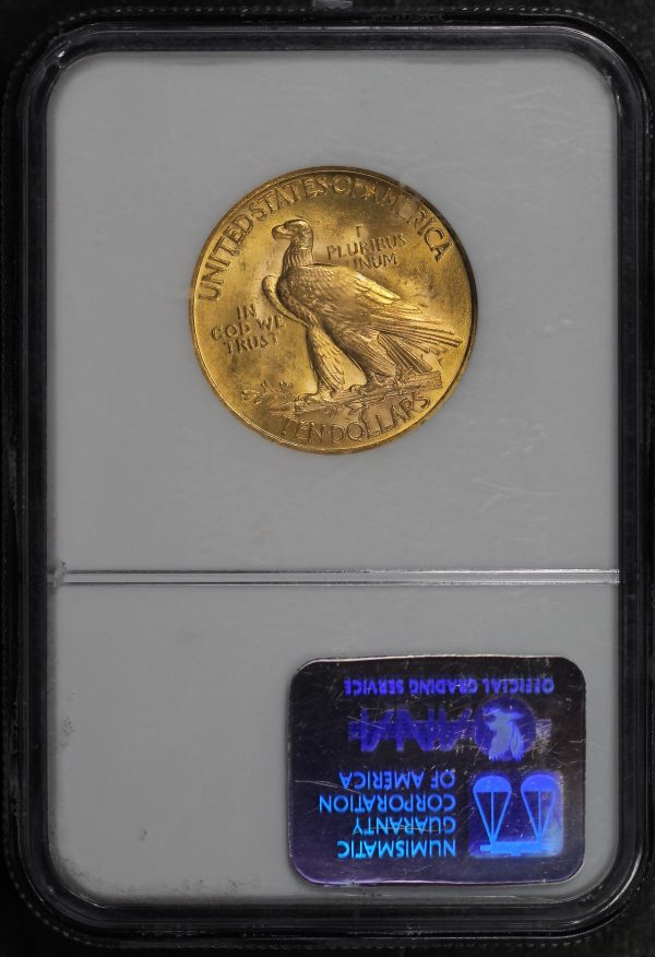 Reverse of this 1932 Indian $10 Motto NGC MS-62