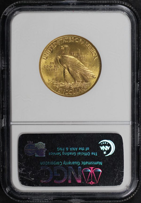 Reverse of this 1932 Indian $10 Motto NGC MS-64