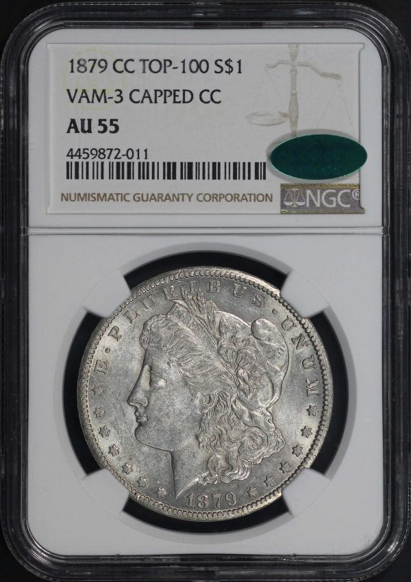 Obverse of this 1858-S Liberty Head $20 Type 1 NGC AU-55