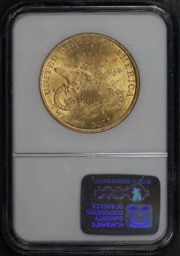 Reverse of this 1897 Liberty Head $20 Type 3 NGC MS-62
