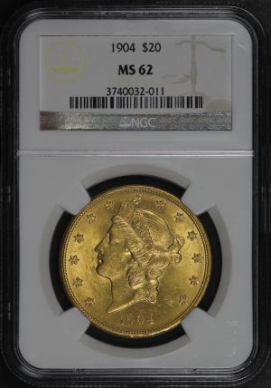 Obverse of this 1904 Liberty Head $20 Type 3 NGC MS-62