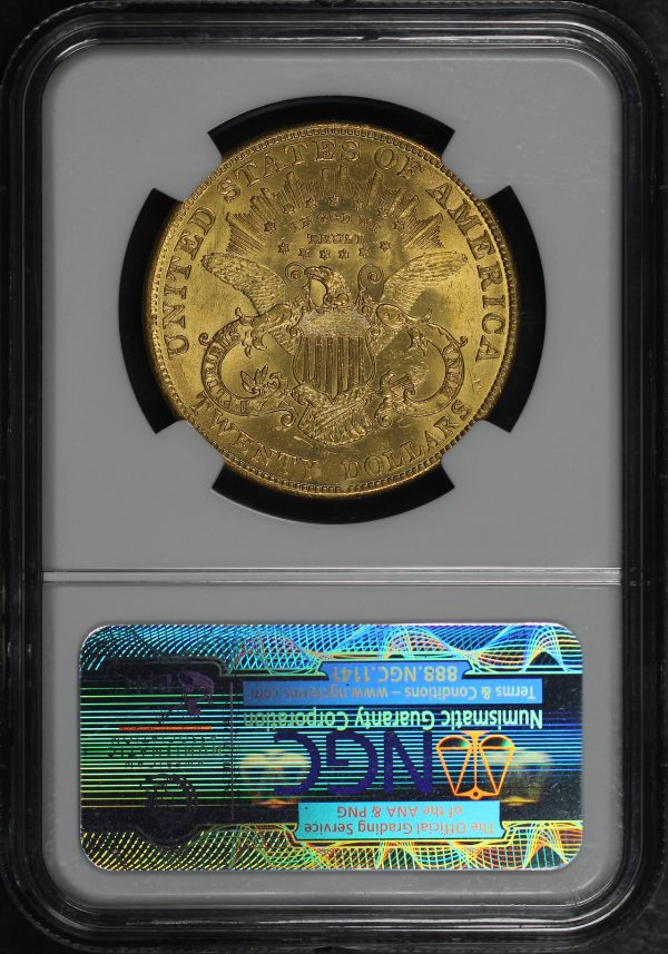 Reverse of this 1904 Liberty Head $20 Type 3 NGC MS-62