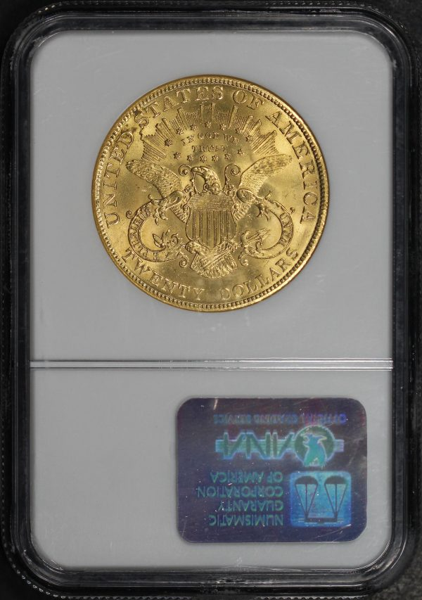 Reverse of this 1904 Liberty Head $20 Type 3 NGC MS-63