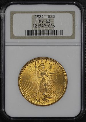 Obverse of this 1924 St. Gaudens $20 NGC MS-63