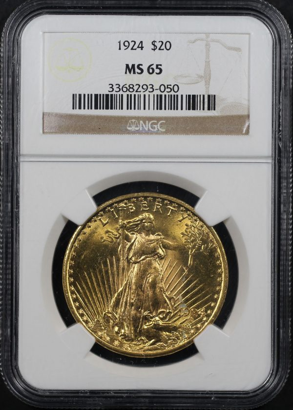 Obverse of this 1924 St. Gaudens $20 NGC MS-65