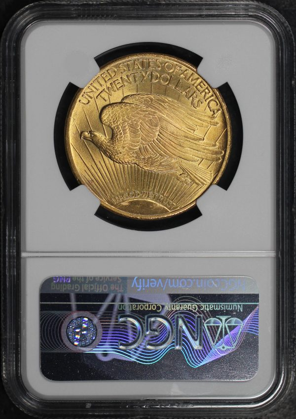 Reverse of this 1924 St. Gaudens $20 NGC MS-66+
