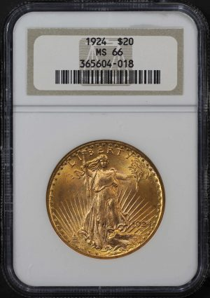Obverse of this 1924 St. Gaudens $20 NGC MS-66