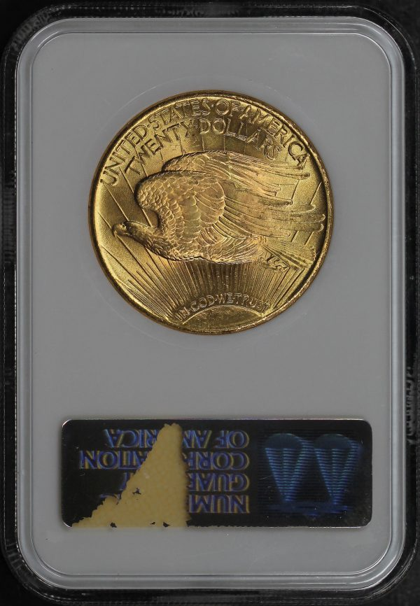 Reverse of this 1925 St. Gaudens $20 NGC MS-64
