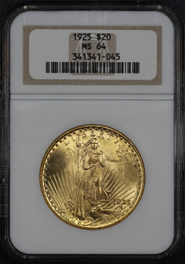Obverse of this 1925 St. Gaudens $20 NGC MS-64