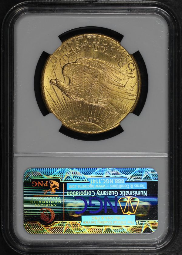 Reverse of this 1927 St. Gaudens $20 NGC MS-63