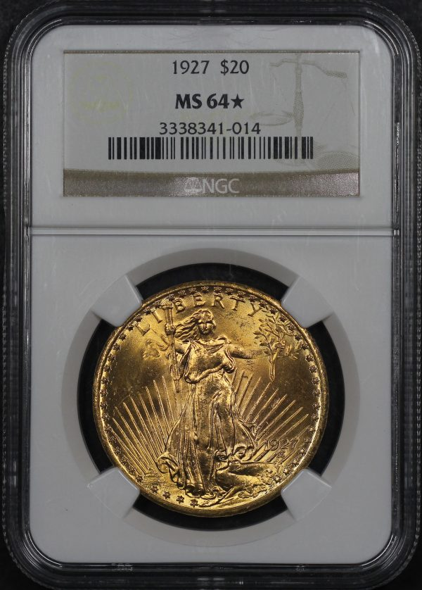 Obverse of this 1927 St. Gaudens $20 NGC MS-64★
