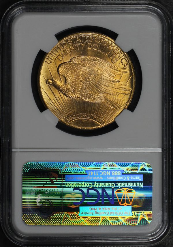 Reverse of this 1927 St. Gaudens $20 NGC MS-64★