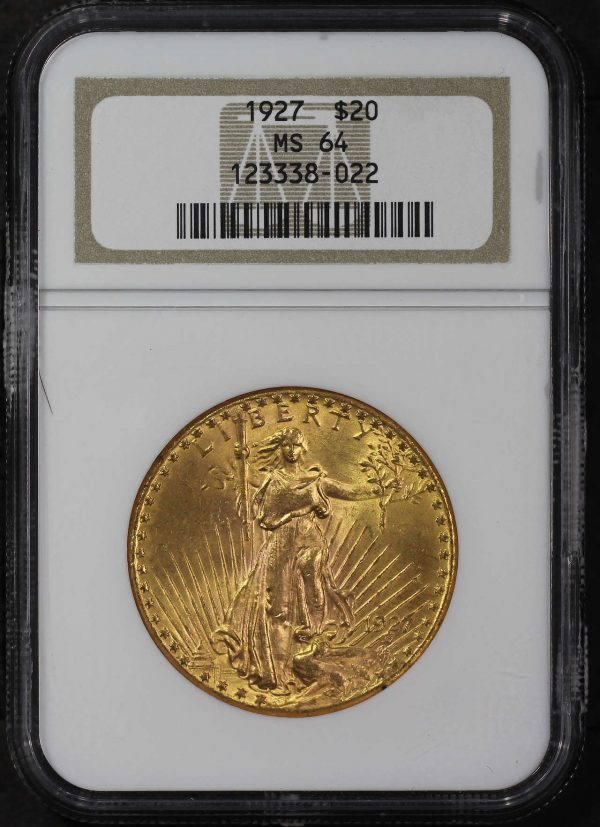 Obverse of this 1927 St. Gaudens $20 NGC MS-64